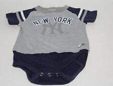 New York Yankees Majestic Toddler 24 Months Gray + Blue One Piece