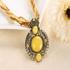 Women Girls Jewelry Gem Crystal Multi-layer Beads Chain Handmade Retro Necklace