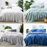 Park Avenue Moroccan Tufted Cotton Chenille Coverlet Set Queen King Size