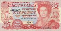 Vintage Banknote Falkland Islands Choice AU/UNC 5 Pounds 1983 Commem Pick 12a