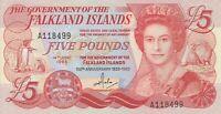 Vintage Banknote Falkland Islands Choice AU/UNC 5 Pounds 1983 Commem Pick 12a