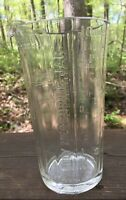VINTAGE CLEAR GLASS ROCHESTER TUMBLER CO. FAMILY MEASURING JAR DATED 1880
