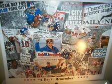 New York Giants Super Bowl Champion Lithograph Robert Simon Art