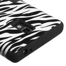 For T-Mobile LG Optimus L9 P769 IMPACT TUFF HYBRID Case Skin Phone Cover Zebra