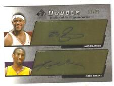 2005 Sp Signature Lebron James & Kobe Bryant Rare Dual Auto #13/25 Amazing Card