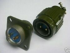 2,Military Gold 2-Pin Twist Male & Female Connector,M2P,teng