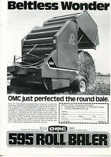 1980 OMC Owatonna Manufacturing Company 595 Hay Roll Baler Ad Beltless Wonder