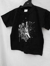 BNWOT Boys Sz 8 Black Rock N Roll Skeleton Short Sleeve Stretch Tee Shirt Top