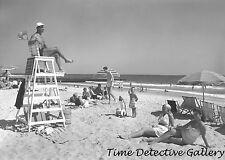 Surf Club on Atlantic Beach, Long Island, New York - 1947 - Vintage Photo Print