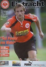 Programm 2000/01 SG Eintracht Frankfurt - VfL Wolfsburg