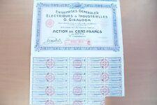 ACTION / EMPRUNT - FRANCE ET/OU ETRANGER - 1929 - BEL ETAT A COLLECTIONNER !!