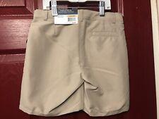 Sz. 7 Boys Nautica School Uniform Shorts Khaki Beige Polyester