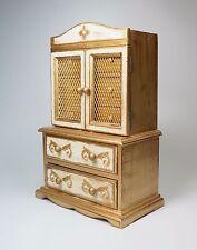 "Vtg Florentine Jewelry Box Chest Mini Armoire 5 Drawers 14.5"" High Mele Japan"