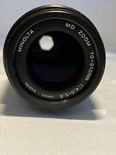 Minolta MD ZOOM 70-210mm 1:4.5-5.6 Objektiv #58107848-11 mit leichtem Pilz