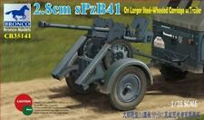 Bronco 1/35 2.8cm sPzB41 On Larger Steel-Wheeled Carriage w/Trailer # CB35141