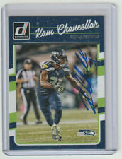 KAM CHANCELLOR Seahawks SIGNED 2016 Donruss Football #265 Autograph ON CARD AUTO
