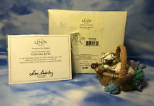 "New Lenox ""Knitting Kitty"" Siamese Cat in Sewing Basket Figurine Yarn 841540 Nib"
