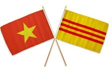 "12x18 12""x18"" Wholesale Combo North & South Vietnam Stick Flag"