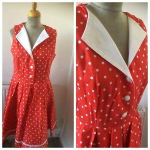 1950's Style Polka Dot  Dress Size 14  By Joe Browns