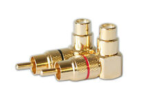 AR PRC-3011 Right Angle RCA Connector Plug Adapters Female-to-Male 90 degree