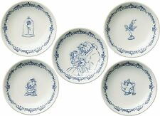 Maebata Walt Disney Beauty and the Beast Dish Plate Saucer Set of 5 D-BB03