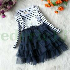 Girl Kids Dresses New Flower Baby Princess Wedding Party Pageant Formal Clothes