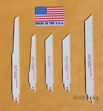 "9"" Reciprocating Saw Blade 6"" SawZall Blades Metal Wood Cobalt BiMetal HSS USA"