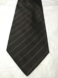 BANANA REPUBLIC MENS TIE BROWN WITH LIGHT BROWN STRIPES 60 x 4