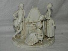 Groupe / Figurine Biscuit (XIXème) Porcelaine