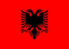 More details for albania flag - albanian national flags - hand, 3x2, 5x3, 8x5 feet