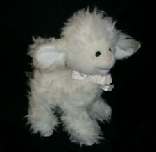 """12"""" BESTEVER BABY WHITE LAMB SHEEP EASTER STUFFED ANIMAL PLUSH TOY W/ BOW & TAG"""