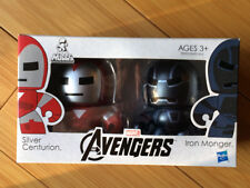 Marvel Mini Muggs Iron Man Silver Centurion vs Iron Monger The Avengers Hasbro