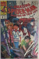 1990 AMAZING SPIDER-MAN SKATING ON THIN ICE #1  -  VF           (INV8925)