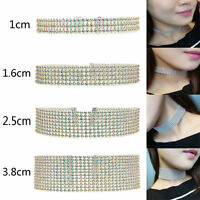 Fashion Full Diamond Crystal Rhinestone Choker Necklace Women Wedding Jewelry