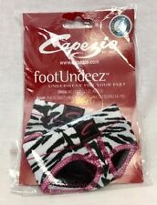 Capezio Lyrical Dance Foot Undeez Undies, Zebra Print, Size Petite (4-5) New