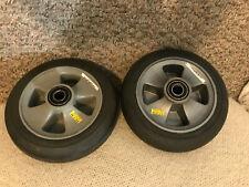 "Mart Cart Rear Wheels (2) - Mag Wheel - 8"" X 2"" Solid Tire - Used"