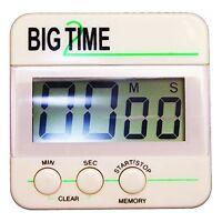 Ashley Big Time Digital Timer - Desktop - For Sports - White (ash-102100)