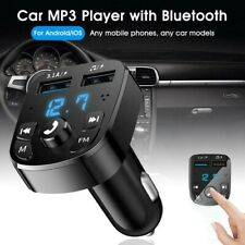 Auto FM Transmitter Bluetooth Kfz Radio Adapter & Dual USB Ladegerät für Handy