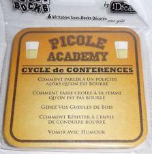 PICOLE ACADEMIE CYCLE DE CONFERENCES  6 Sous-bock sous-verre carton NEUF