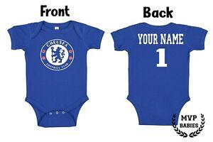 Chelsea FC Homemade baby bodysuit.