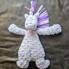 "Jellycat 16"" Unicorn Purple Lavender Ribbon Mane Plush Stuffed Animal Lovey"