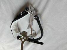 Hackamore geflochtenes Ledernasenband verchromte Anzüge