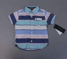 Tommy Hilfiger Boy's Short Sleeve Button Down Shirt TM8 Multicolor Size 12M