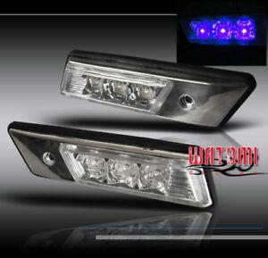 88-96 BMW E36 E34 FRONT BLUE LED SIDE MARKER SIGNAL LIGHT LAMP 90 91 92 93 94 95