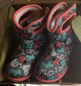 Bogs Baby Bogs Puppies Toddler's  Boots,Dark Gray Multi, Size Kids 7.Great Price