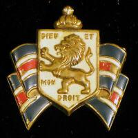 WWII ERA ACCESSOCRAFT PATRIOTIC BWRS & BB Britain Dieu Et Mon Droit WAR BROOCH !