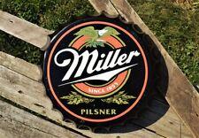 Miller Brewing Company Beer Bottle Cap Tin Metal Sign - Pilsner - Eagle - Coors
