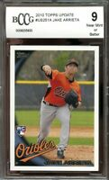 2010 topps update #us251a JAKE ARRIETA chicago cubs rookie card BGS BCCG 9