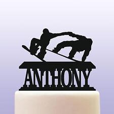 Personalised Acrylic Snowboarding Birthday Cake Topper Decoration & Keepsake