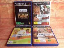 PS2 PlayStation  Games  Bulk Lot SINGSTAR KARAOKE GAMES ABBA POP ROCK